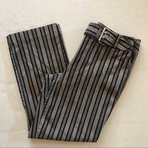Ann Taylor Loft Crop Striped Pants Size 8